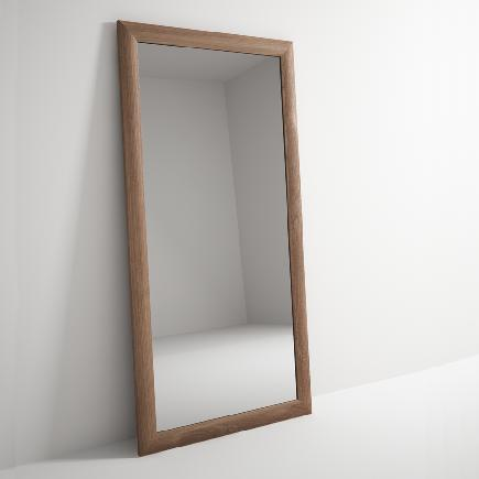 Solid teak timber frame mirror the natural room for Miroir 90 x 180