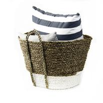Oval Bag with Braided Handle