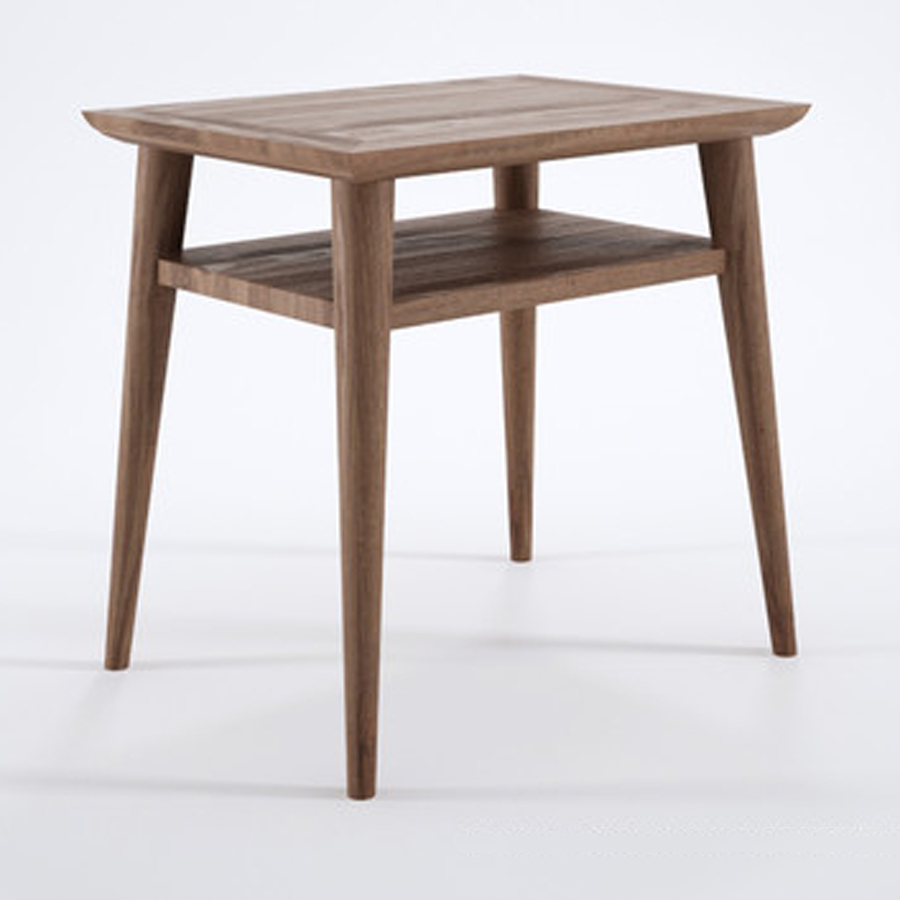 Danish designed bedside table recycled teak timber the natural room - Bedside table ...
