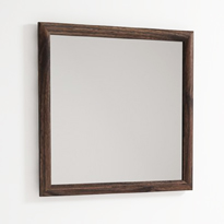 Vintage Mirror Square Walnut Thumb