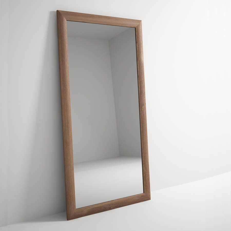 Solid teak timber frame mirror the natural room for Mirror frame