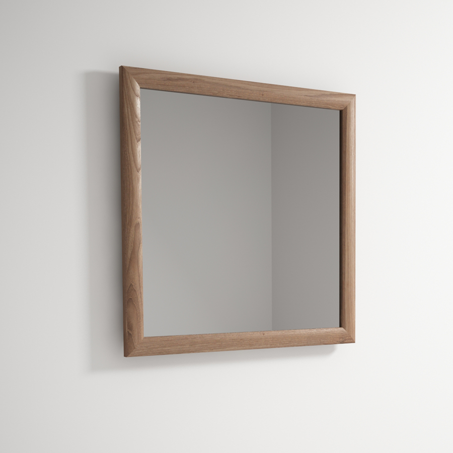 Beautiful vintage design teak timber mirror the natural room for Miroir 90x90