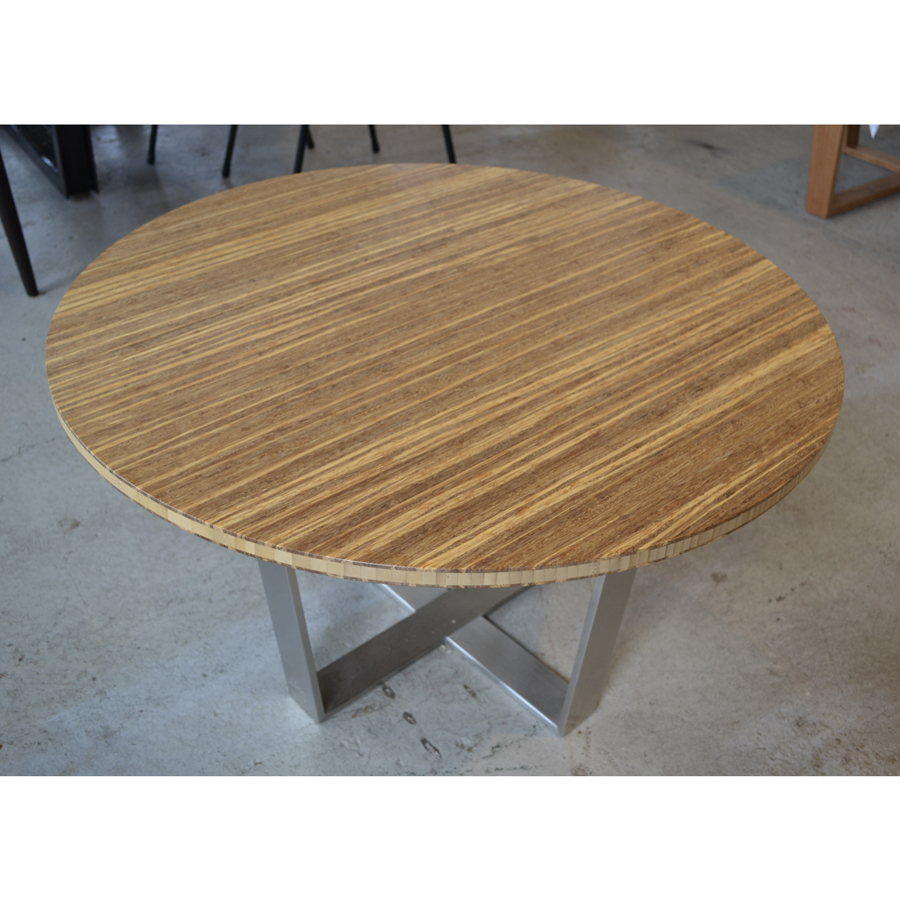 Bamboo Coffee Table With Stainless Steel Legs The Natural Room